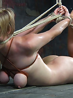 For Tracy this long day starts with zip ties. They make great restraints for her limbs and can bind her tits so tight they turn purple.