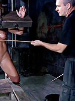 Dia Zerva is one piece of ass PD never tires of fucking with. For some reason the slut does not appreciate his attention like she should. The stocks he has her in are strong enough to hold her tight no matter how much she struggles. Being restrained teach